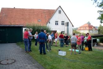 Alle freuen sich auf die Kletterhalle in Hersbruck